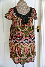 Pureness Size 8 to 10 Cotton Top Hip length Green & Brown Floral elastic front