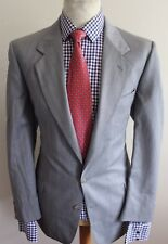 JAEGER LUXURY SUIT STRIPED GREY CLASSIC FIT TRADITIONAL BRITISH TAILORED 44x36