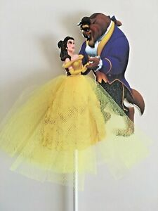Beauty and The Beast Belle Princess Cake Topper Birthday Party decoration baking
