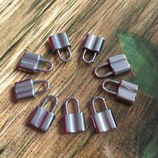 10pcs/lot Hot Stainless Steel Lock Floating Charms Pendant Bracelet 8*13mm