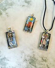 Vintage Rider Waite Smith Tarot Card Pendant Necklace
