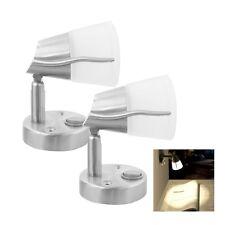 2X12V LED Leselampe Wandleuchte mit Schalter Wohnmobil Wohnanhänger Schwenkbar