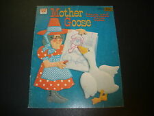 NEW Whitman 1980 Mother Goose Trace and Color Book