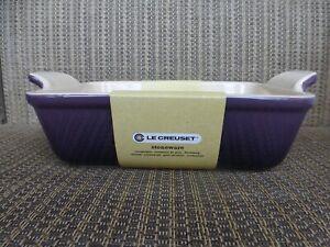 """Le Creuset CASSIS Purple Rectangular Dish 1.14qt 7.5""""/19cm *NWT"""