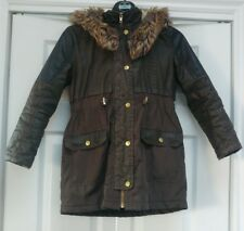 Girls River Island Parka Coat Age 9 Years