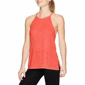 Under Armour UA Threadborne Ladies Fashion Top Marathon Red Sports Training Vest
