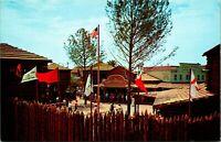 Vtg Postcard Disneyland Disney 1950S Davy Crockett Museum Frontierland Stockade