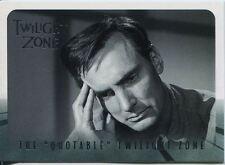 Twilight Zone Series 4 S&S Quotable Twilight Zone Chase Card Q11