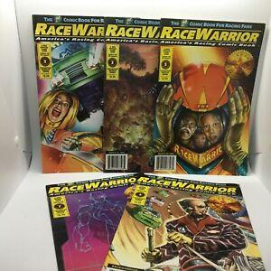 5 PC Lot Race Warrior Comic Book Volumes 2,3.5,6&7 America's Racing Comic Book