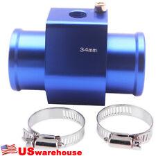 Car Water Temp Sensor Temperature Joint Pipe Gauge Radiator Hose Adapter 34MM BL