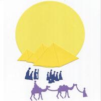 Stanzschablone Pyramide Sonne Weihnacht Hochzeit Oster Geburtstag Karte Album