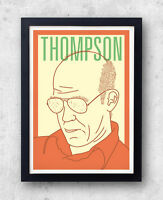 Thompson Imprimé ! Hunter S Affiche, Fear And Loathing, Las Vegas, Writer