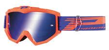 Brille Verkleidung Moto-Cross Objektiv A Spiegel Progrip Aztaki Orange Blau