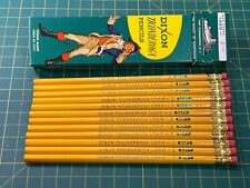 12 - 1960's VINTAGE DIXON TICONDEROGA #2 PENCILS + BOX - ALL NEW FERRULE'S!