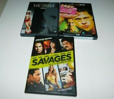 Taxi Driver , Fight Club & Savages Action Movies (Dvd's)