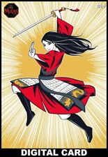 Topps Disney Collect MULAN STORY COLLECTION GOLD MOTION SUPER RARE #1