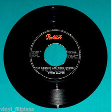 "PHILIPPINES:CYNDI LAUPER - The Goonies Are Good Enough,7"" 45 RPM,RARE"