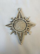 Vintage Alexander The Great Silver Coin Star Pendant - Macedonia King