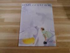 KENZO - Ca sent beau - Publicité !! Papier épais !