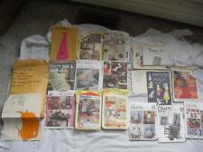 lot of 17 plus CRAFT SEWING PATTERNS 1954 & UP pillows decorating christmas tie