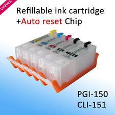 5PCS PGI-150 CLI-151 refillable ink cartridge for Canon IP7210 MG5410 MX721 921