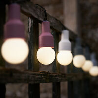Solar Powered Frosted Retro Bulb String Lights Garden Outdoor Fairy Summer Lamp