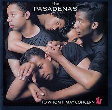 THE PASADENAS : TO WHOM IT MAY CONCERN / CD (CBS RECORDS 1988)