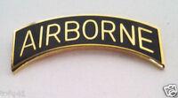 AIRBORNE TAB  GOLD/ BLACK Military Veteran US ARMY Hat Pin 14895 HO
