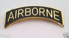 AIRBORNE TAB  GOLD/ BLACK Military Veteran US ARMY Hat Pin 14895 HO
