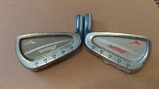 PAIR OF MIZUNO LIE ANGLE SHOP CLUB FITTING GOLF CLUB HEADS