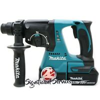 "Makita XRH01Z 1"" 18V LXT SDS plus Brushless Rotary Hammer Drill 5.0 Ah Battery"