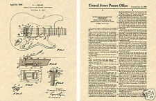 FENDER STRATOCASTER Art Print READY TO FRAME 1956 Clarence Tremolo Guitar