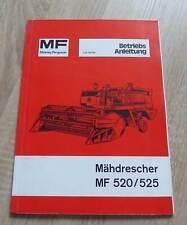 Massey Ferguson Mähdrescher MF520 + MF525 Betriebsanleitung