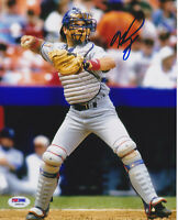 Mike Piazza Signed 8x10 Los Angeles Dodgers Photo - MLB LA Throw PSA/DNA