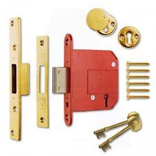 """ERA Fortress 36131 BS 5 Lever Deadlock Brass Effect 76mm(3"""") Mortice Door Lock"""