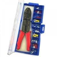 46pc Electricians Crimping Tool & Wire Stripper Kit Crimper Terminal Set + Case