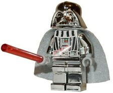 **NEW** LEGO Custom Printed CHROME DARTH VADER Silver Star Wars Sith Minifigure