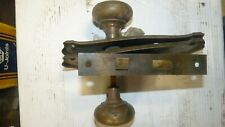 Vintage Antique Door Knobs With Brass Door Plates and Lock Set