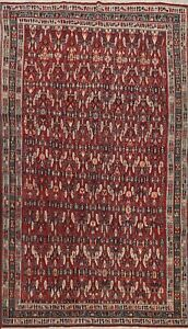 Vintage Vegetable Dye Traditional Geometric Area Rug Hand-knotted Oriental 6x9