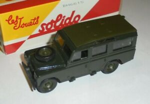 car 1/43 SOLIDO SALVAT LAND ROVER SERIE III 109 1971 OLIVE DRAB NEW BOX