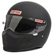 SIMPSON BANDIT HELMET SNELL SA2015 MATT BLACK L LARGE 60cm 7 1/2  fia MSA HANS