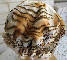 SHOWER CAP HAT  AUSTRALIA  HANDMADE, WATERPROOF GOLDEN TIGER