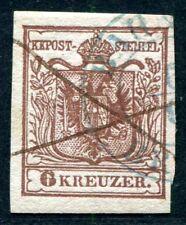 Austria 1850 4x sello azul + suspensión perfectamente (s1300