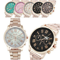 GENEVA Luxury Men Women Quartz Dial Watch Stainless Steel Analog Wrist Watches