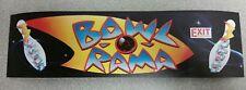 Bowl O Rama arcade marquee sticker. 3 x 10. (Buy 3 stickers, Get One Free!)