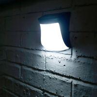 3 LED Solar Powered Garden Gutter Wall Light Walkway Security Night Lamp Outdoor