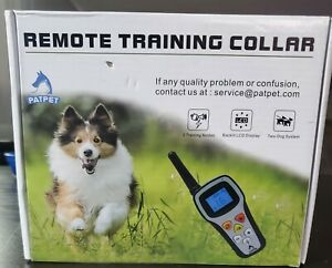 Dog Remote training Collar Patpet