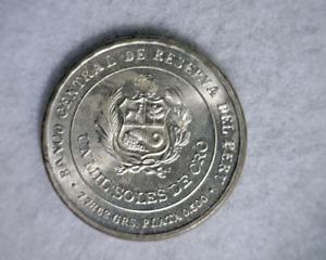 PERU MIL PESOS 1979 BU SILVER COMMEMORATIVE  (stock# 574)