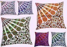 5 PC Wholesale Lot Cushion Cover Case Pillow Case Cotton Mandala Indian Designer