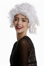 Women's Wig Carnival Baroque Rococo short Corkscrew curls white curly